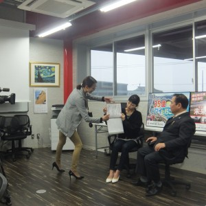 第3回OAB大分朝日放送「タウンスパイス」収録